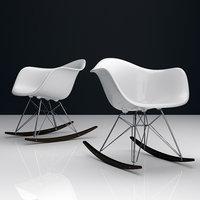 eames plastic chairs 3D model