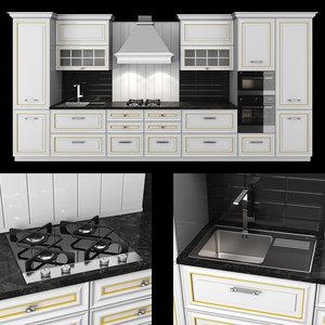 3D kitchen veneto