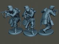 3D german soldier ww2 shoot model