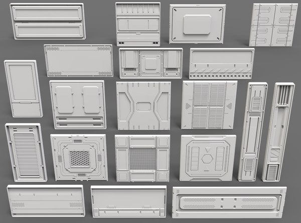 sci fi panels - 3D
