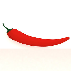 3D red chili
