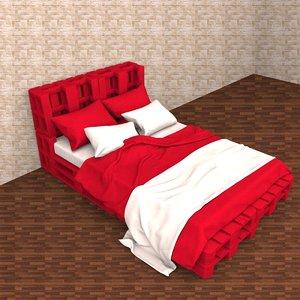 pallette bed 3D model