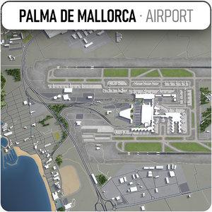palma mallorca airport - 3D model