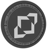 3D incent black coin