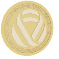 infinitus token gold coin 3D model