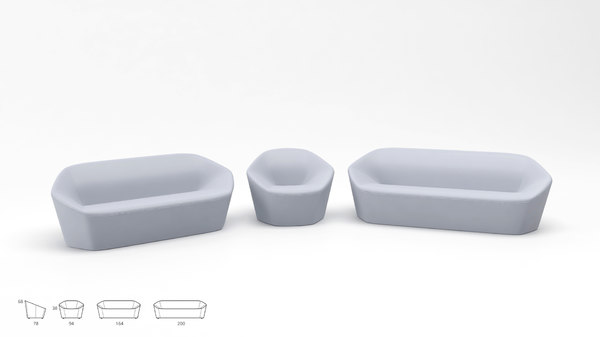 3D alti deberenn armchair model