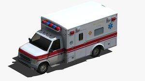 ambulance city 3D model