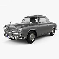 3D model peugeot 403 1959