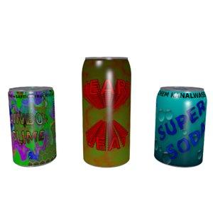 sodacans set 3D model