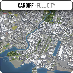 3D cardiff surrounding - model