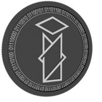 int chain black coin 3D model