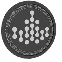 3D ivy black coin model