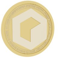 3D model invictus gold coin fund