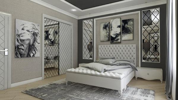 3D avangard bedroom interior design