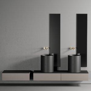 3D core countertop washbasin ceramic
