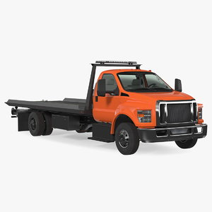 tow truck flatbed bed 3D model