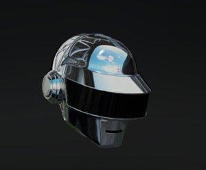 3D daft punk silver helmet