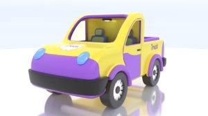 3D model cartoon toy mini truck