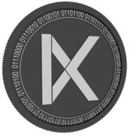 kava black coin 3D model