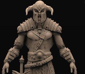 3D viking model