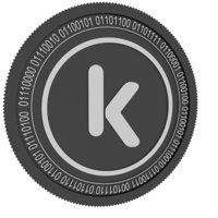 kcash black coin 3D model
