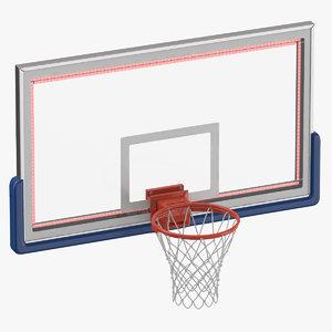 3D basketball net board