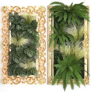 3D classic vertical gardening green wall