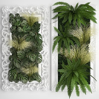 frame vertical gardening green wall 3D model