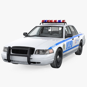 3D generic police car nypd