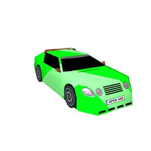 sports car apex 3D model