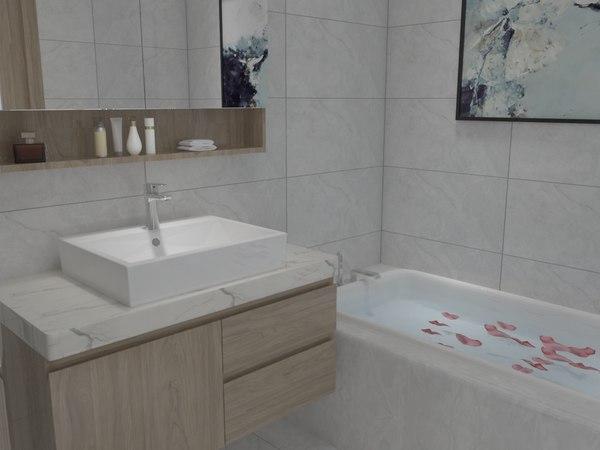 3D model bathroom 2700x1800 mm