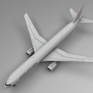 3D japan airlines boeing 777-300er model