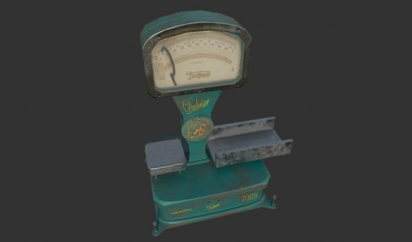 scales old 3D model
