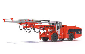 two-boom drill rig dd421 3D model