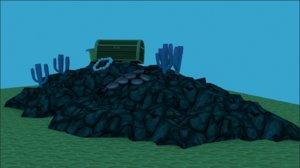 scenes simple underwater 3D model