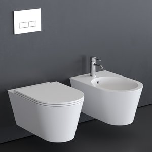 3D hide wall-hung toilet bidet