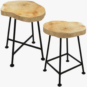 3D model stools loft