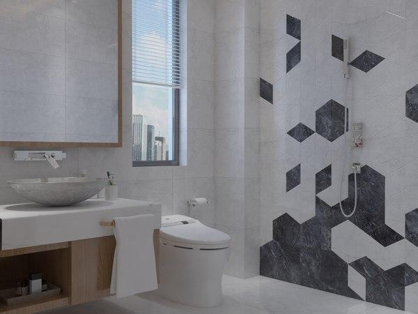 bathroom 2200x1900 mm 3D model