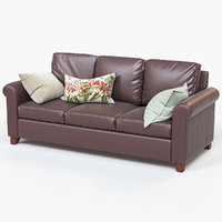 3D cameron roll arm upholstered model