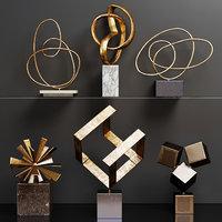 set abstract sculptures 3D