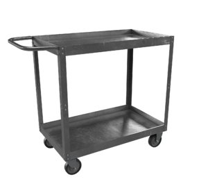 3D realistic steel cart