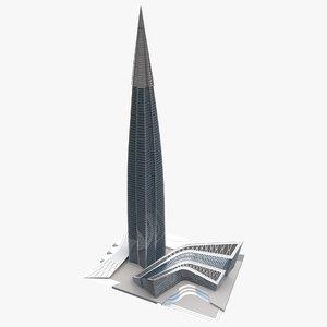 3D lakhta tower model