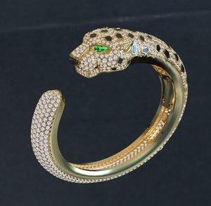 3D bracelet jewelry model