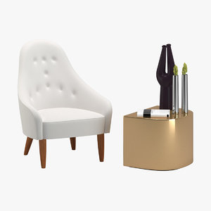3D model chair 123 accessory
