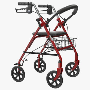 drive medical wheel rollator 3D model