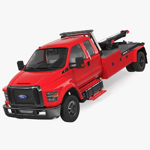 f650 supercab tow truck 3D