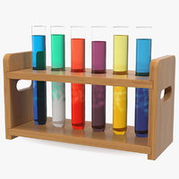 Laboratory Test Tubes in Rack