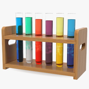 3D laboratory test tubes rack