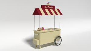 cream cart 3D model