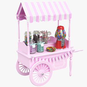 real candy cart 3D model